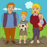 Family portrait vector illustration Stock Photos