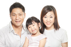 Family portrait of young chinese parents, daughter Royalty Free Stock Image