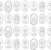 Family portraits seamless vector pattern Stock Images