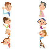 Family pose Royalty Free Stock Photography