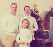 Family  posing for Christmas portrait Stock Image
