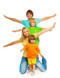 Family posing Royalty Free Stock Images