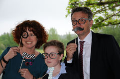 Family posing Royalty Free Stock Photography