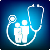 Family practice royalty free illustration