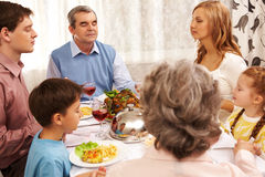 Family pray royalty free stock photography