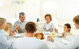 Family pray royalty free stock images