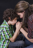 Family Praying royalty free stock photography