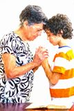 Family Praying or Daily Devotional to God royalty free stock photography