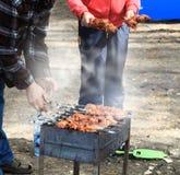 Family preparation of a kebab