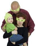 Family - preparation to masked ball Royalty Free Stock Photo