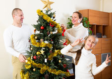Family preparing for Christmas Royalty Free Stock Image