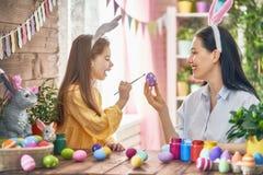 Family preparing for Easter Stock Photos