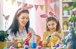 Family preparing for Easter Stock Photo