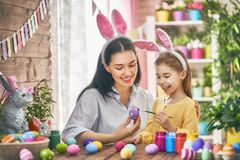 Family preparing for Easter Royalty Free Stock Image