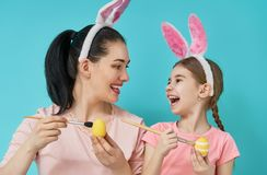 Family preparing for Easter Royalty Free Stock Photography