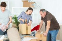 Family preparing to relocate. Family stock photo