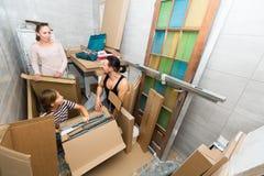 Family preparing to relocation Stock Photo