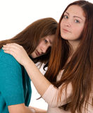 Family problems. Girls' talk. Family problems Stock Photography