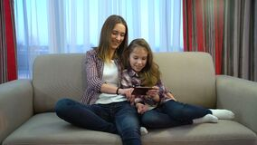 Family problems communication digital addiction. Modern family problems. lack of communication. digital device addiction. mother and daughter browsing smartphone stock video