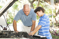 Family Project - Auto Repair Royalty Free Stock Images
