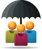 Family Protection. Illustration of family protection with umbrella Royalty Free Stock Image