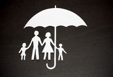 Family protection coverage concept. Concept of family protection coverage royalty free stock images