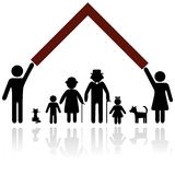 Family protection illustration. Royalty Free Stock Photography
