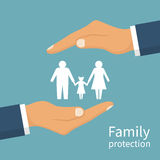Family protection. Insurance concept. stock illustration