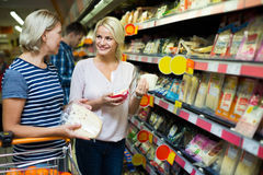 Family purchasing food Royalty Free Stock Photo