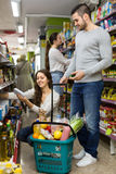 Family purchasing food Stock Image