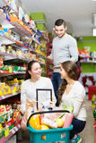 Family purchasing food Stock Photo