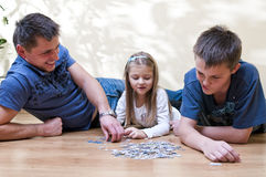 Family puzzle stock photo