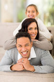 Family pyramid couch Stock Image