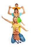 Family pyramid Royalty Free Stock Photos