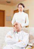Family quarrel Stock Images