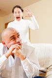 Family quarrel Stock Images