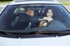 Family quarrel driving Royalty Free Stock Image