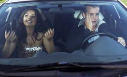 Family quarrel driving Stock Photo
