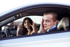 Family quarrel driving Royalty Free Stock Photography