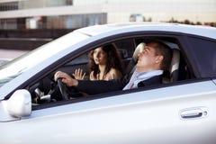 Family quarrel driving Stock Photography
