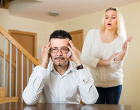 Family quarrel at home Stock Images