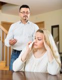 Family quarrel at home Stock Photos