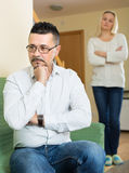 Family quarrel at home Stock Photography