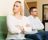 Family quarrel at home Stock Photos