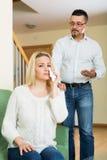 Family quarrel at home Stock Image