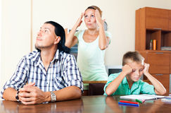 Family after quarrel Stock Photography