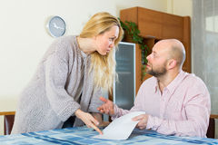 Family quarrel over financial documents Royalty Free Stock Photos