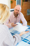Family quarrel over financial documents Royalty Free Stock Images
