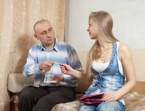 Family quarrel  over money Royalty Free Stock Images
