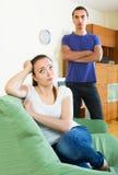 Family quarrel Stock Photo